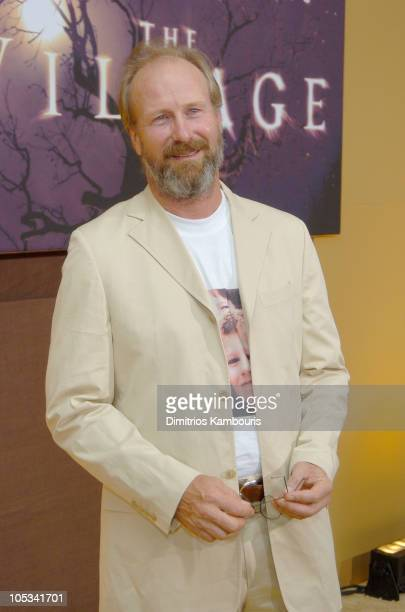 William Hurt during 'The Village' New York Premiere Inside Arrivals at Prospect Park in New York City New York United States