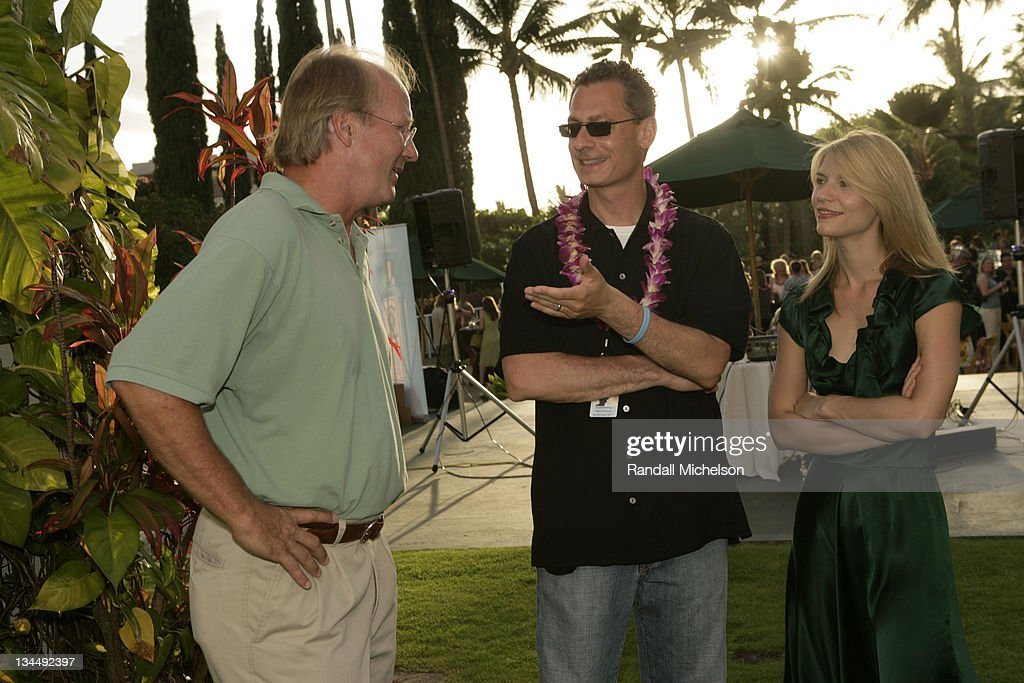 William Hurt, Mark Sternberg and Claire Danes during 2007 Maui Film Festival - Opening Night Reception at Kealani Resort in Maui, HI, United States.