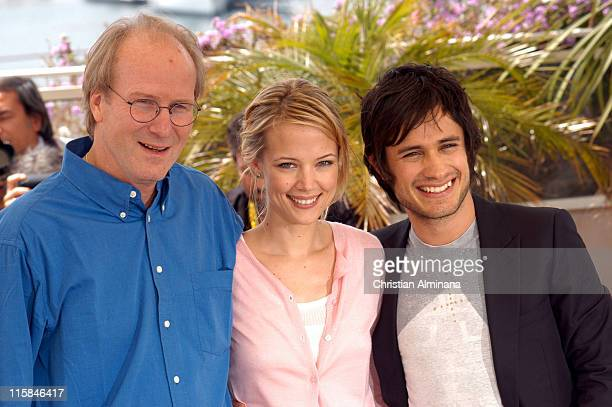 William Hurt Pell James and Gael Garcia Bernal during 2005 Cannes Film Festival 'The King' Photocall in Cannes France