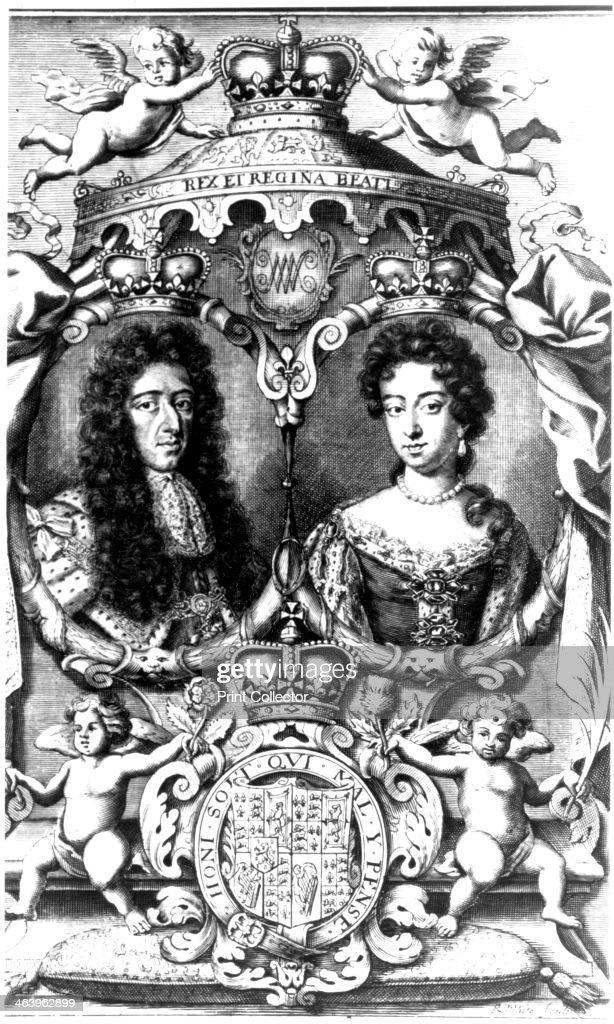 William III and Mary II. Artist: R White : News Photo