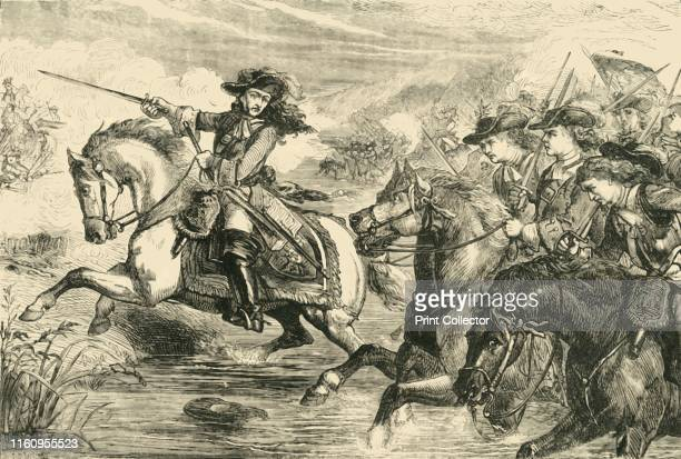 William III At the Battle of the Boyne' 1890 Battle of the Boyne in Drogheda 1690 when William of Orange defeated James VII and II of Scotland's...