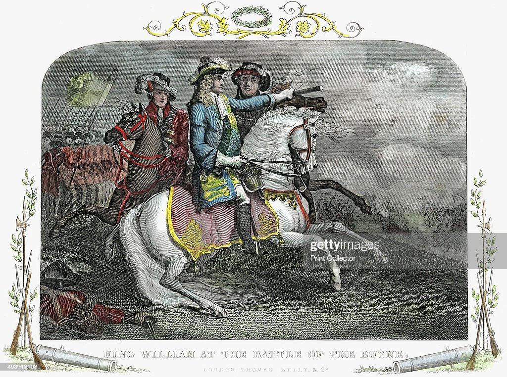 William III, King of Great Britain and Ireland, at the Battle of the Boyne, 1690. : News Photo