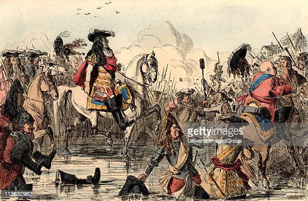 William III King of Great Britain from 1689 The Protestant William at the Battle of the Boyne Ireland where he defeated supporters of the deposed...