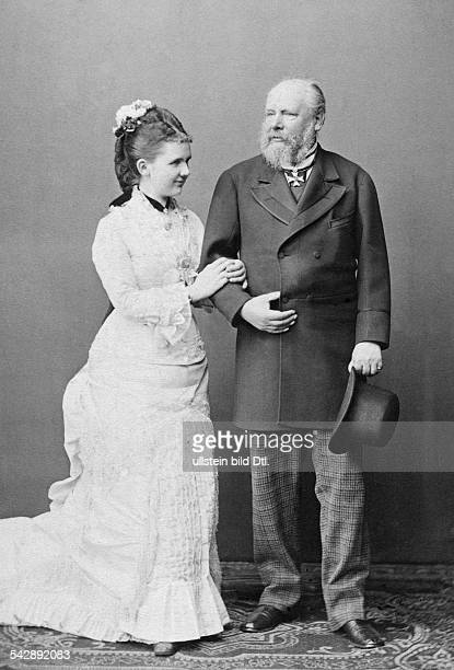 William III of the Netherlands *1902181723111890 King of the Netherlands and Grand Duke of Luxembourg with his fiancee Princess Emma of Waldeck and...