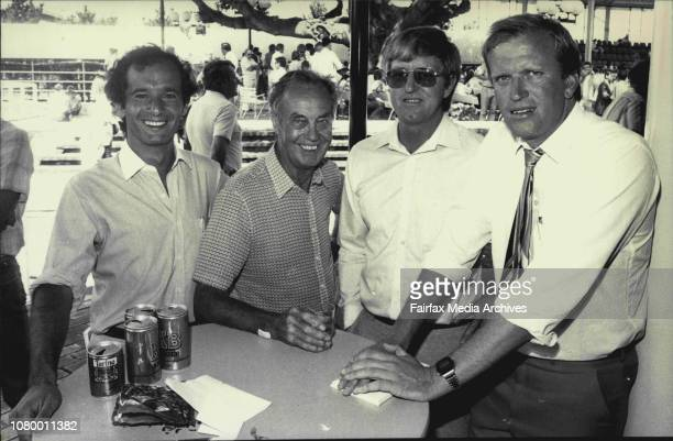 William Inglis Yearling Sales Owners Michael Sissian Ron Mason Bruce Allison and John Foote January 27 1984