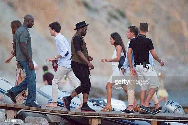 william is seen leaving a beach club on August 9 2015 in Ibiza Spain