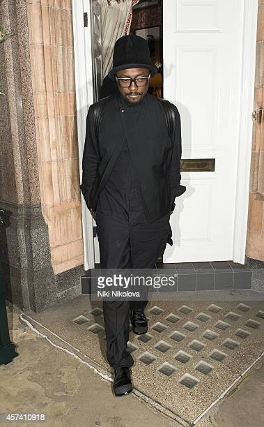william is seen leaving Harry's Bar Mayfair on October 17 2014 in London England