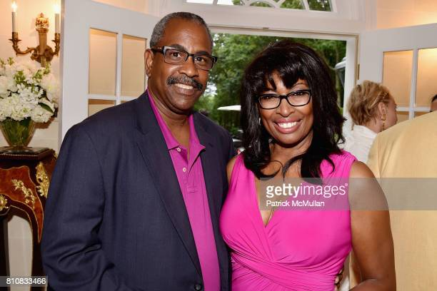 William Jackson and Brenda Blackmon attend Katrina and Don Peebles Host NY Mission Society Summer Cocktails at Private Residence on July 7 2017 in...