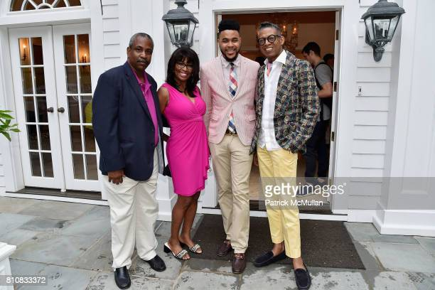 William Jackson Brenda Blackmon Tony Bowles and B Michael attend Katrina and Don Peebles Host NY Mission Society Summer Cocktails at Private...