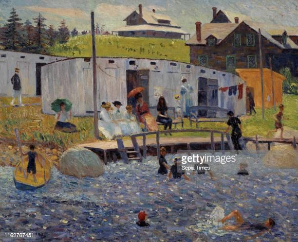 The Bathing Hour Chester Nova Scotia William James Glackens Oil on canvas William Glackens spent the summer of 1910 in Chester Nova Scotia painting...