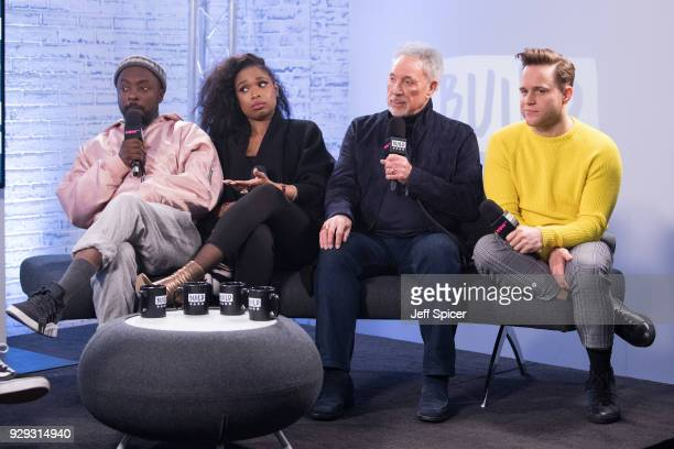 william Jennifer Hudson Tom Jones and Olly Murs during a BUILD panel discussion on March 8 2018 in London England
