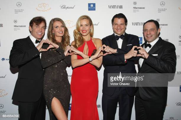 William Johnson Maria Sabova Petra Nemcova Alejandro Grimaldi and Sergio Berger attend the Happy Hearts Foundation gala at Sheraton Maria Isabel...