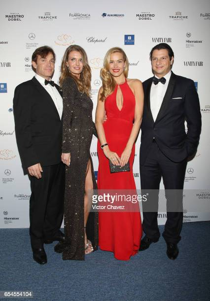 William Johnson Maria Sabova Petra Nemcova and Alejandro Grimaldi attend the Happy Hearts Foundation gala at Sheraton Maria Isabel Hotel Towers on...