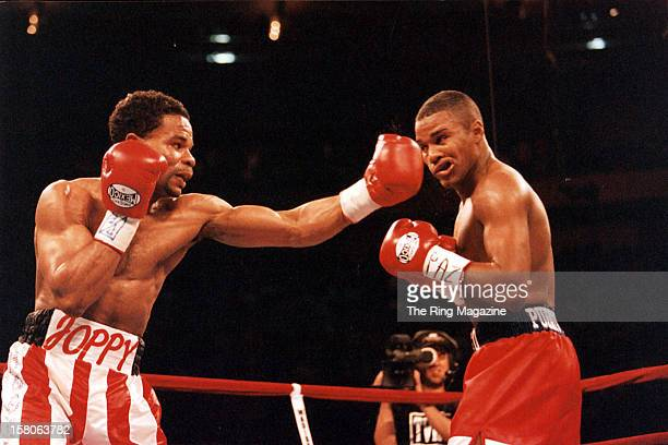 William Joppy lands a left hook against Felix Trinidad during the fight at Madison Square Garden on May 12 New York New York Felix Trinidad won the...