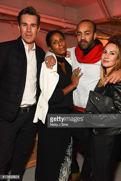 William Kanta Sherette Dhalstrom Paul Murashe and Labana del Rio attend the Timothy Taylor Frieze Party at The Vinyl Factory on October 05 2016 in...
