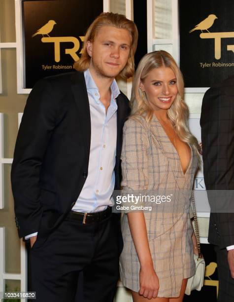 William Karlsson of the Vegas Golden Knights and television personality Emily Ferguson attend Imagine Dragons' fifth annual Tyler Robinson Foundation...