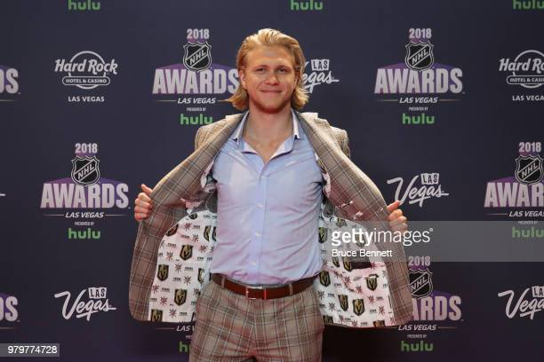 William Karlsson of the Vegas Golden Knights arrives at the 2018 NHL Awards presented by Hulu at the Hard Rock Hotel Casino on June 20 2018 in Las...