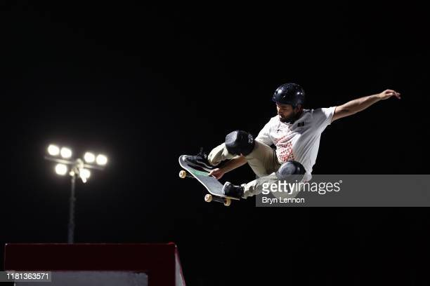 William Kc Cortez of Mexico in action in the Men's Skateboard competition at Aspire Zone during the ANOC World Beach Games on October 15 2019 in...