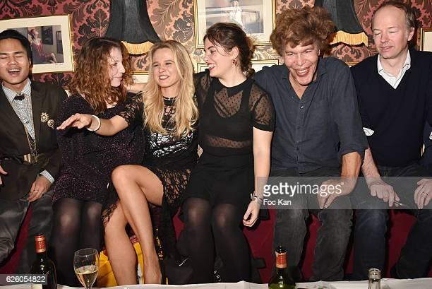 William Kerney Fanny Dusso Julie Jardon Wendy Vettor Flo Precy and Igor bogdanov attend Julie Jardon 22 years Anniversary Party at Club des...