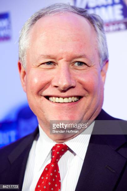 William Kristol editor of the Weekly Standard poses on the red carpet upon arrival at a salute to FOX News Channel's Brit Hume on January 8 2009 in...