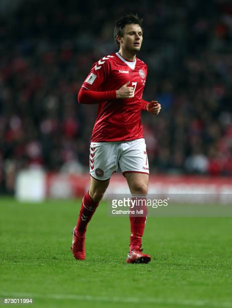 William Kvist of Denmark during the FIFA 2018 World Cup Qualifier PlayOff First Leg between Denmark and Republic of Ireland at Telia Parken on...
