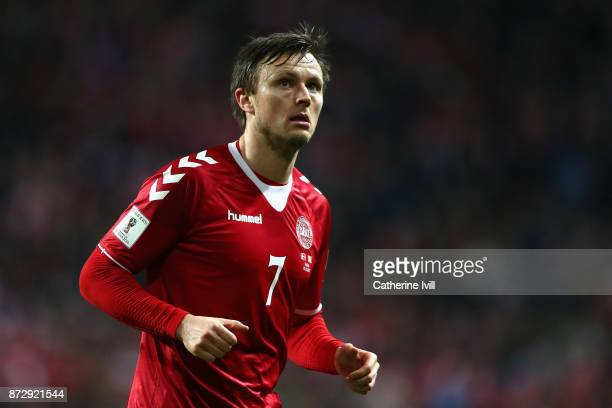 William Kvist of Denmark looks on during the FIFA 2018 World Cup Qualifier PlayOff First Leg between Denmark and Republic of Ireland at Telia Parken...