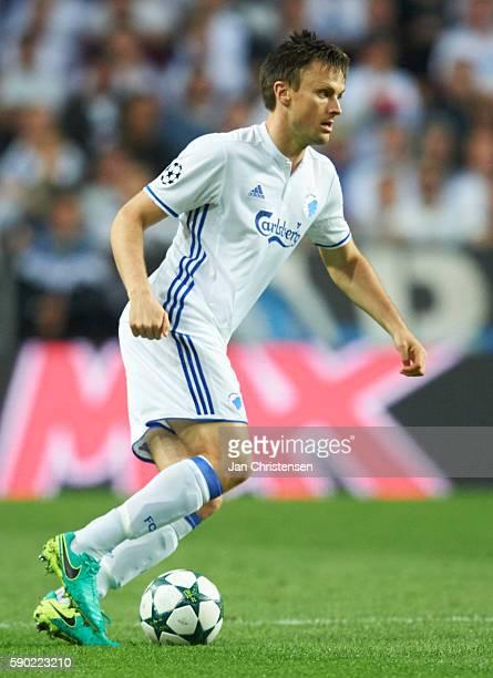 William Kvist of FC Copenhagen controls the ball during the UEFA Champions League Playoff match between FC Copenhagen and Apoel FC at Telia Parken...
