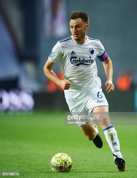 William Kvist of FC Copenhagen controls the ball during the UEFA Champions League Qualification 3rd round 2th leg match between FC Copenhagen and...