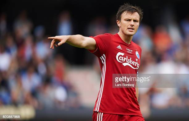 William Kvist of FC Copenhagen gestures during the Danish Alka Superliga match between Randers FC and FC Copenhagen at BioNutria Park on July 22 2017...