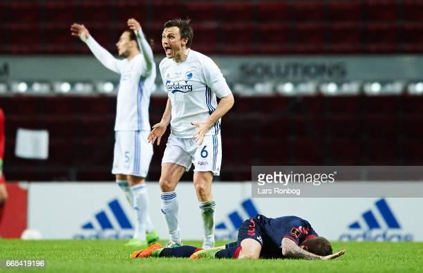 William Kvist of FC Copenhagen shows frustration during the Danish cup DBU Pokalen quarterfinal match between FC Copenhagen and AGF Aarhus at Telia...