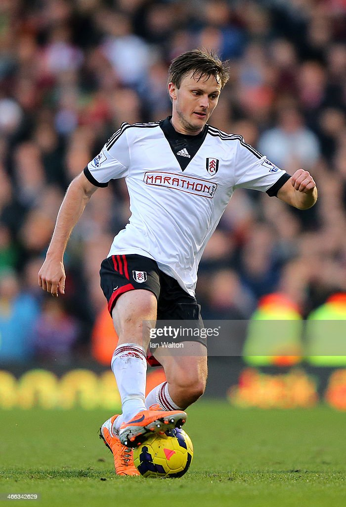 William Kvist of Fulham in action during the Barclays Premier League match between Fulham and Southampton at Craven Cottage on February 1, 2014 in London, England.