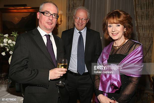 William Laffan David Donahue and Jill Donahue attend The 2016 Irish Georgian Society New York Gala Dinner at The University Club on October 11 2016...