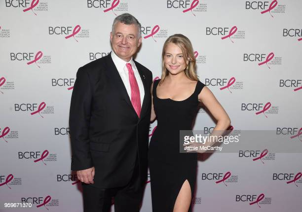 William Lauder and Danielle Lauder attend the Breast Cancer Research Foundation Hot Pink Gala hosted by Elizabeth Hurley at Park Avenue Armory on May...