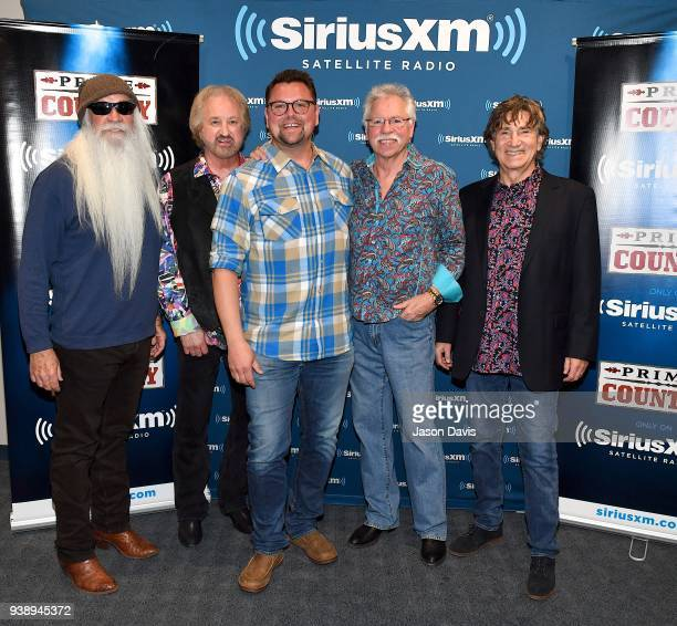 William Lee Golden Joe Bonsall Duane Allen Joe Bonsall and Richard Sturban of The Oak Ridge Boys along with SiriusXM Host Storme Warren arrive at...