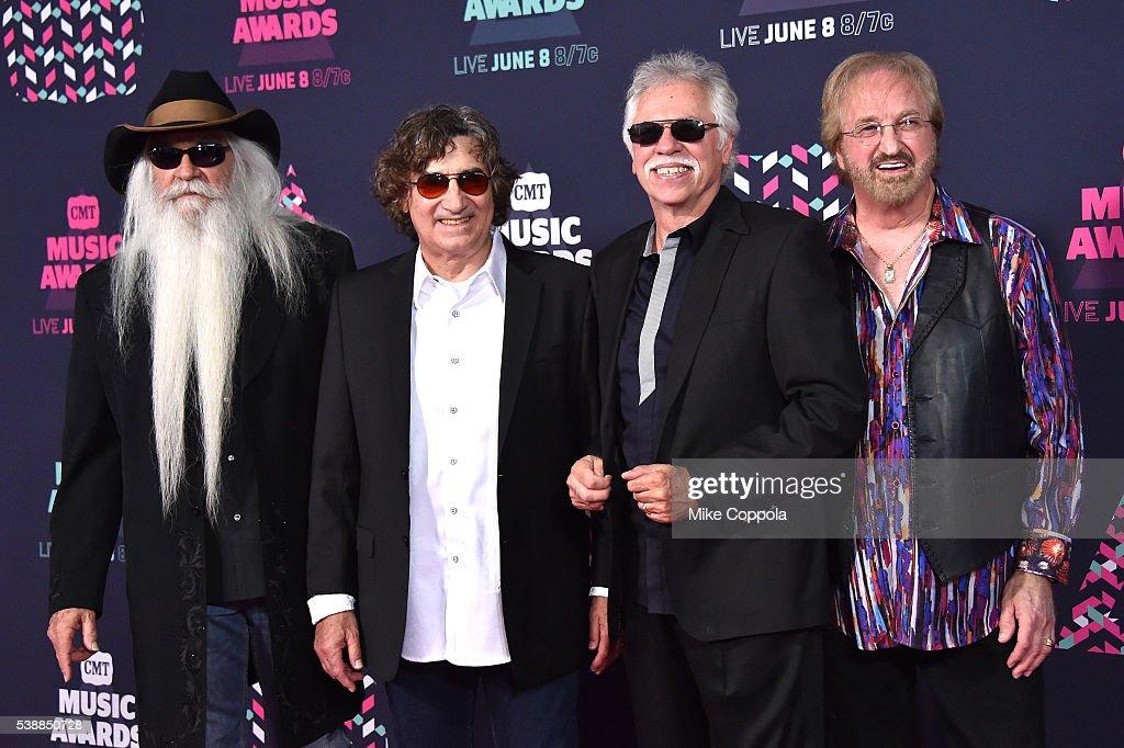 William Lee Golden, Richard Sterban, Joe Bonsall, and Duane Allen of the Oak Ridge Boys attend the 2016 CMT Music awards at the Bridgestone Arena on June 8, 2016 in Nashville, Tennessee.