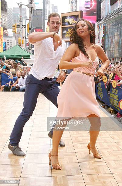 William Levy and Cheryl Burke perform on ABC's Good Morning America in Times Square on May 23 2012 in New York City