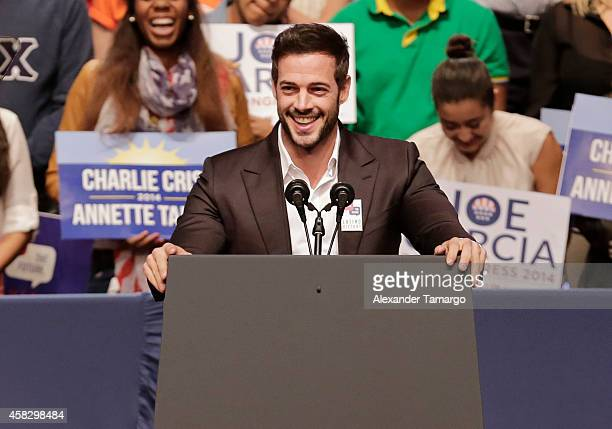 William Levy speaks at the Latino Victory Project Rally at Florida International University on November 2 2014 in Miami Florida