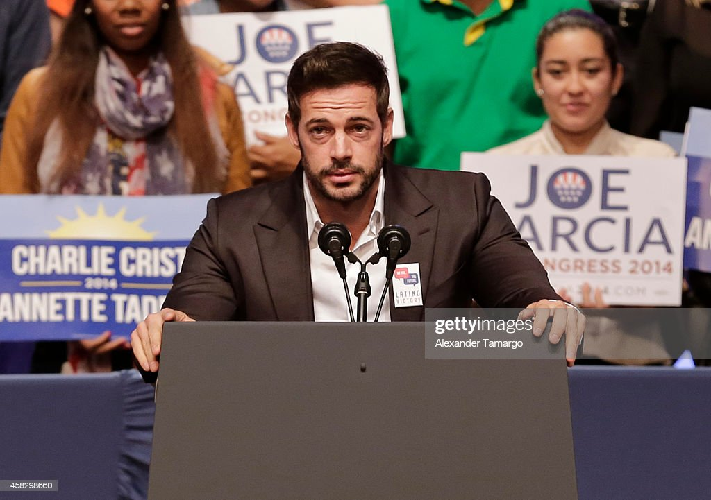William Levy speaks at the Latino Victory Project Rally at Florida International University on November 2, 2014 in Miami, Florida.