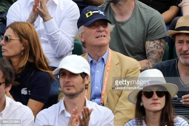 William Leymergie is spotted at Roland Garros on June 9 2017 in Paris France