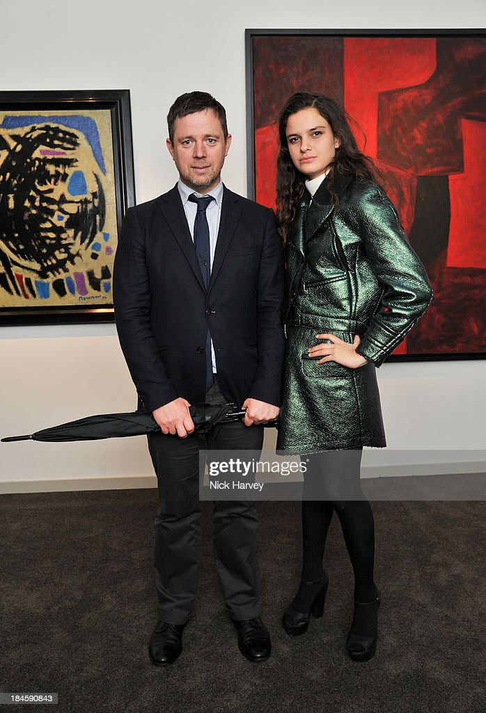 William Ling and Evangeline Ling attend the collectors preview for PAD London at Berkeley Square Gardens on October 14, 2013 in London, England.