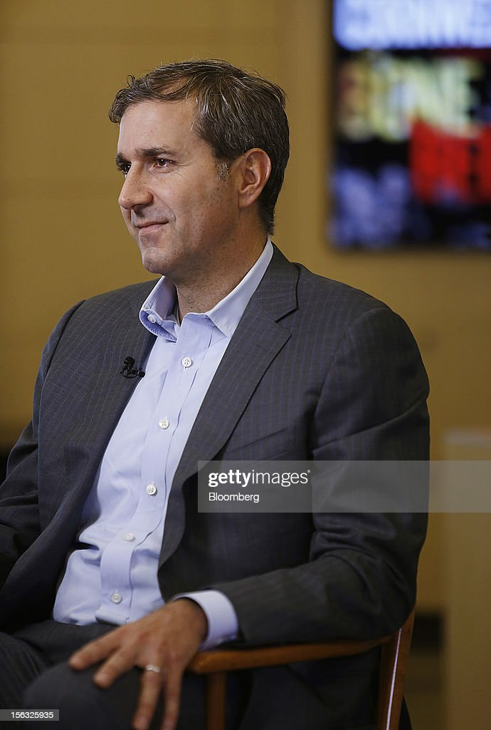 William Lynch, chief executive officer of Barnes & Noble Inc., listens during an exclusive Bloomberg Television interview in New York, U.S., on Tuesday, Nov. 13, 2012. Lynch discussed the company's performance, outlook and the Nook tablet. Photographer: Victor J. Blue/Bloomberg via Getty Images