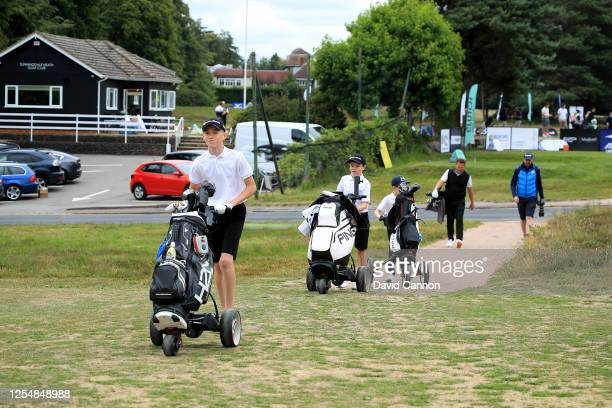 William Mannering of England the 11 year old Junior member of Sunningdale Heath Golf Club who will be playing in the main Open Access Masters Clutch...