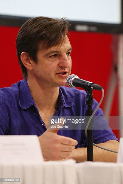 William Mapother speaks at the Financing Panel at the Los Cabos Convention Center for the Baja International Film Festival Day 4 on November 17 2012...
