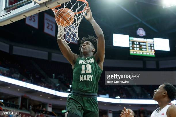 William Mary Tribe forward Nathan Knight dunks the ball during a game between the Ohio State Buckeyes and the William Mary Tribe on December 9 2017...
