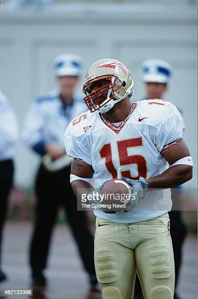 William McCray of the Florida State Seminoles warms up against the Duke Blue Devils on September 1 2001