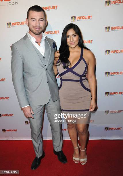 William McCullough and Jessica Quito attend the INFOListcom's PreOscar Soiree and Jeff Gund Birthday Party held at Mondrian Sky Bar on February 27...