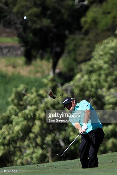 William McGirt of the United States plays a shot on the ninth hole during the final round of the SBS Tournament of Champions at the Plantation Course...