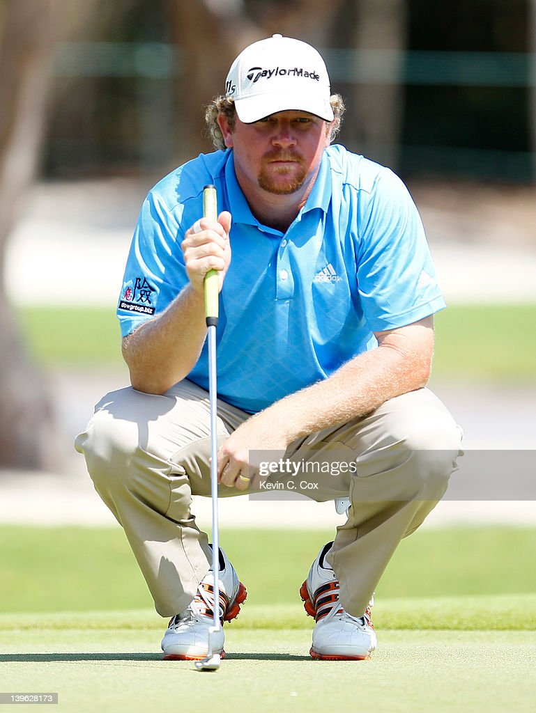 William McGirt of the United States waits to putt on the ninth hole during the first round of the Mayakoba Golf Classic at Riviera Maya-Cancún held at El Camaleon Golf Club at Mayakoba on February 23, 2012 in Playa del Carmen, Mexico.