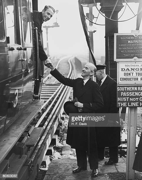William McIlroy the Mayor of Reading joins in the celebrations as Southern Railways extends the electrification of its line to Reading 30th December...