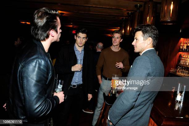 William McLarnon Dan O'Brien Jr Kevin Hubmsith and Alex Lundqvist attend YouTube Participant Media With The Cinema Society Host The After Party For...